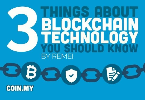 Image of the title of the article that relates to the 3 things you should know about blockchain technology