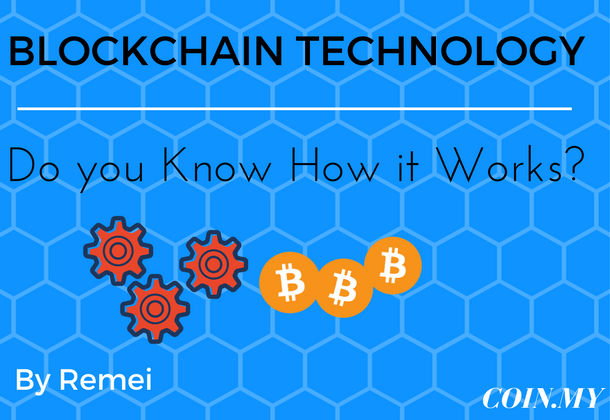 "An image that describes a post about blockchain technology entitled ""blockchain technology - do you know how it works?"""