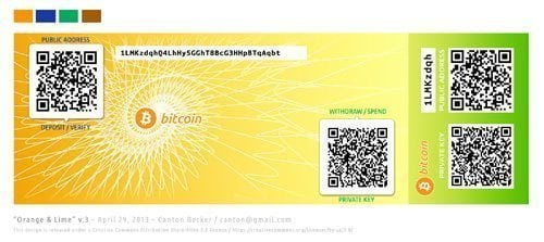 Menyimpan Bitcoin di<em>paper wallet</em>